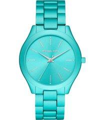 reloj fashion azul michael kors