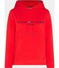 tommy hilfiger women's curve relaxed fit logo hoodie oxidized orange - 20
