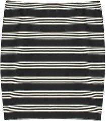 falda estampada a rayas color blanco, talla 6