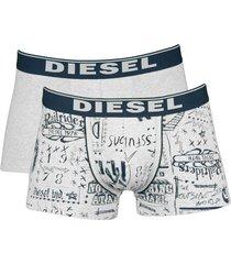 diesel boxershort shawn 2-pak print grijs