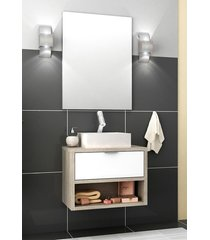conjunto para banheiro malta barrique/branco brilho bosi - branco - dafiti