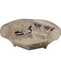 centro de mesa decorativo de prata diyafah grande