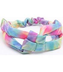 headband tie dye rosa - único