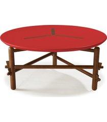 mesa de centro twist 761 cacau/vermelho - maxima