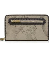 alviero martini 1a classe designer wallets, geo print zip around wallet