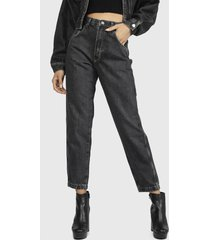 jeans dua lipa x pepe jeans negro - calce holgado