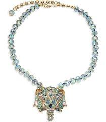 heidi daus women's goldtone & crystal pendant necklace