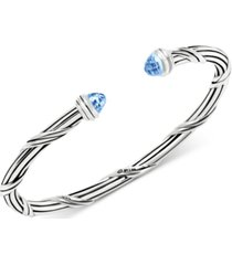 peter thomas roth blue topaz cuff bracelet (3-1/10 ct. t.w.) in sterling silver (also available in citrine)