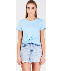 t-shirt letni błękit