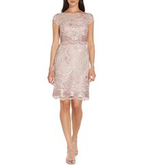 adrianna papell embroidered lace a-line dress, size 6 in dusty rose at nordstrom