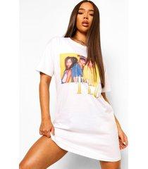gelicenseerd tlc t-shirtjurk, white