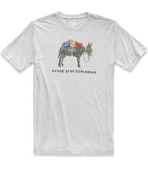 camiseta hombre s/s pony wheels tri blend tee - the north face