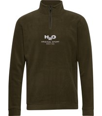 blåvand ii fleece half zip sweat-shirt tröja grön h2o