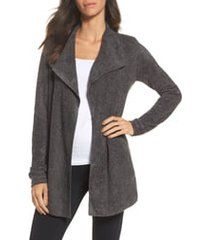 women's barefoot dreams cozychic lite coastal cardigan, size large - grey