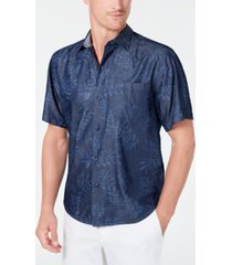 tommy bahama men's big & tall here we go indigo shirt