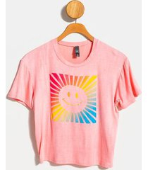 smiley face ombre tee - white