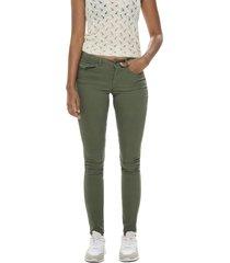 jeans jacqueline de yong verde - calce skinny