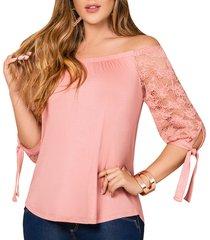 blusa goyo rosa para mujer croydon