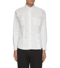 boro patchwork reflective triangle gusset shirt