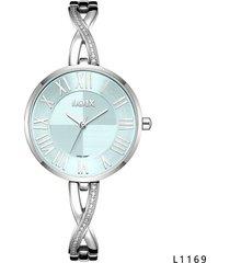 reloj loix ref l1169-02 plata/azul