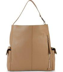 vince camuto women's garri leather hobo bag - black