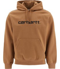carhartt hoodie with logo embroidery