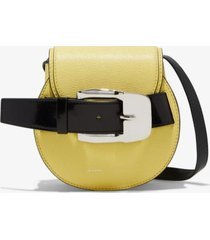 proenza schouler buckle mini crossbody bag canary yellow one size