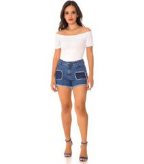 shorts jeans express hot pants lúcia feminino