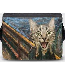 torba na ramię duża cat scream paint