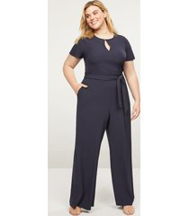 lane bryant women's lena faux-wrap keyhole jumpsuit 26 night sky