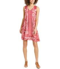style & co sleeveless swing dress, created for macy's