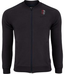 jaqueta de moletom psg flc trk nike - masculina - cinza escuro