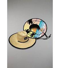 chapéu kouk authentic de palha beach girl - unissex
