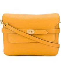 mulberry belted bayswater satchel - orange