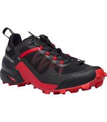 city cross black/black/goji berry shoes sneakers training shoes röd salomon