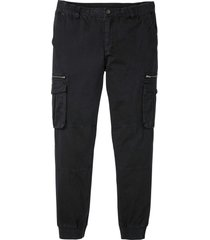 pantaloni cargo regular fit straight (nero) - rainbow