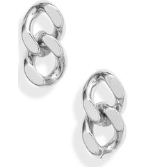 women's knotty curb chain earrings