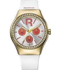 reloj icon drop rad multi dorado reebok