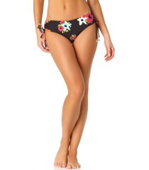 anne cole island bloom side tie bikini bottoms women's swimsuit
