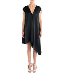 asymmetric cape shift dress