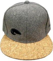 gorra gris buxter snapback dusty