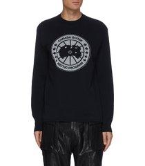 x angel chen reflective disc logo merino wool sweater