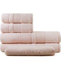 jogo de toalhas de banho 5 peças fio penteado  appel splendore rosê