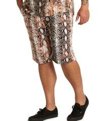 mvp collections men's big & tall print drawstring shorts