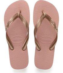 sandalias chanclas havaianas para mujer rosado top