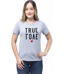 blusa silueta amplia gray mix s bocared true love 2712066