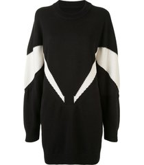 intarsia knitwear dress