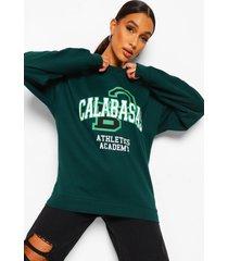 calabasas sweater met tekst, bottle green