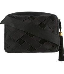 chanel pre-owned 1991-1994 ribbon shoulder bag - black