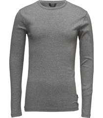 basic tee o-neck l/s t-shirts long-sleeved grå lindbergh